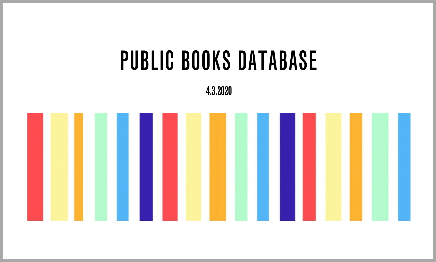 Public Books Database Source Website Poetry Literary Studies